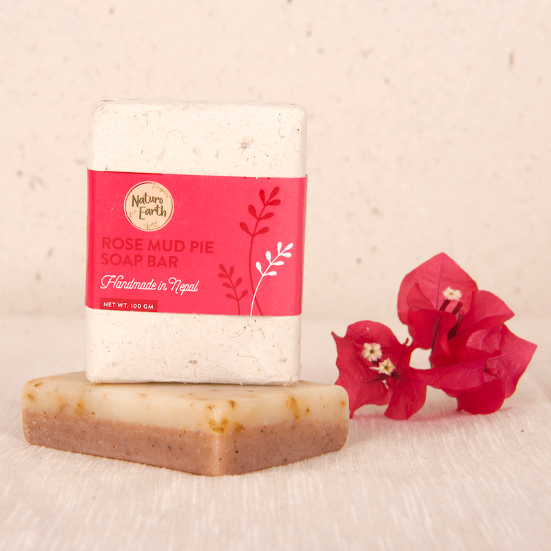 Rose Mud Pie Organic Soap Bar For Face And Body
