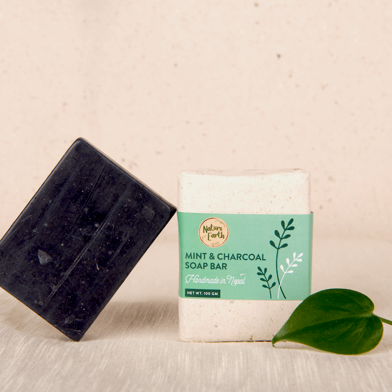 Mint & Charcoal Organic Soap Bar For Face And Body