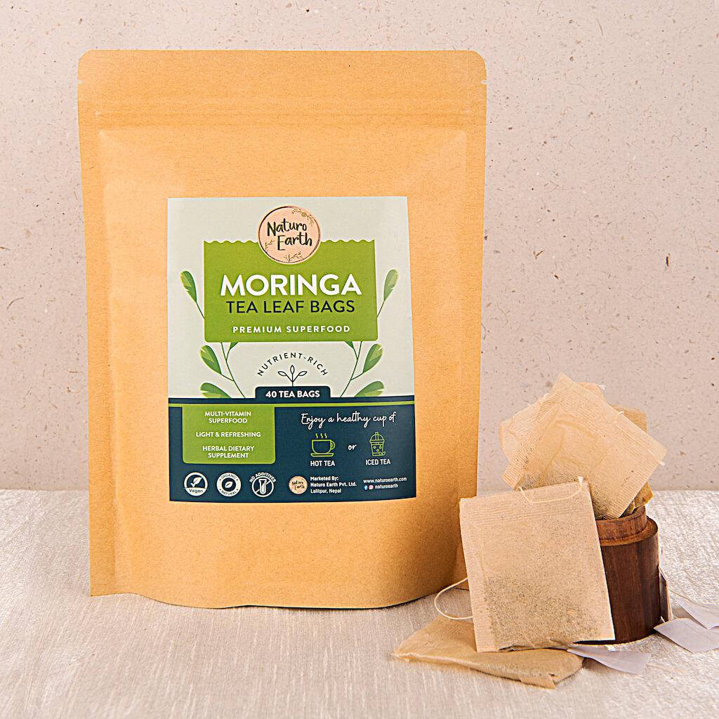 Moringa Tea Leaf Bags – 40 Tea Bags