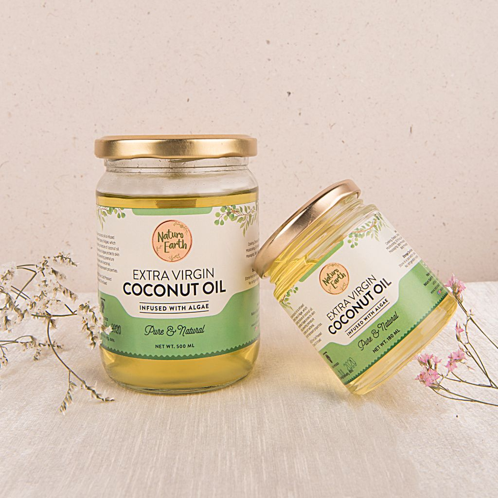 Organic Cold Pressed Extra Virgin Coconut Oil With Algae