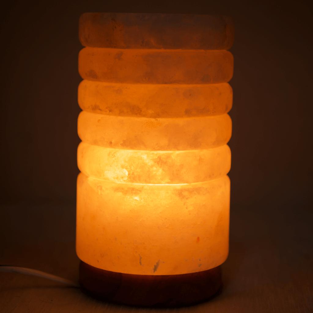 Himalayan Pink Salt Lamp - Cylinder Ring