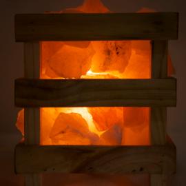 Himalayan Pink Salt Lamp - Basket